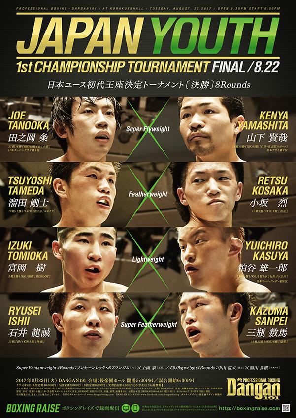 DANGAN191 日本ユース初代王座決定トーナメント〔決勝〕1日目